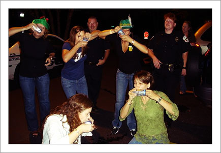 Beer Shotguns w/ the Police