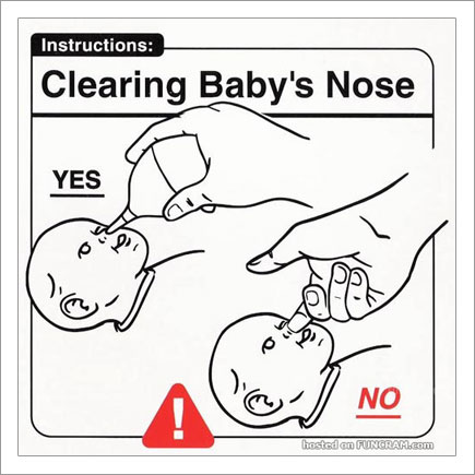 Baby Instructions For New Parents: Clearing Baby's Nose
