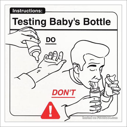 Baby Instructions For New Parents: Testing Baby Bottle
