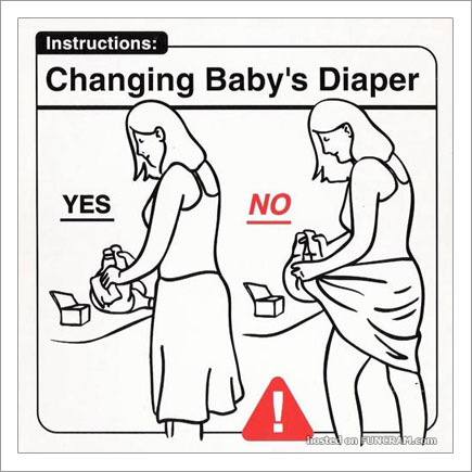 Baby Instructions For New Parents: Changing Baby Diaper