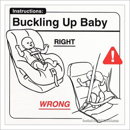 Baby Instructions For New Parents: Buckling Up Baby
