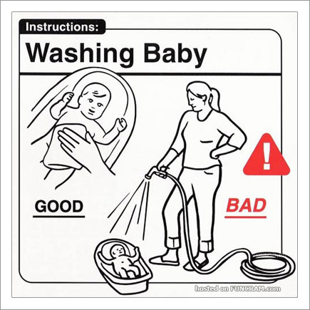 Baby Instructions For New Parents: Washing Baby