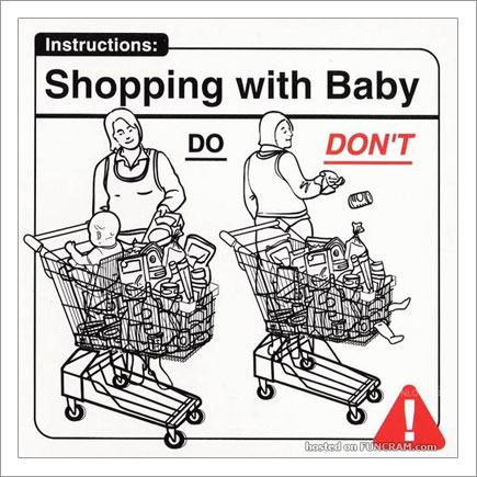 Baby Instructions For New Parents: Shopping With Baby